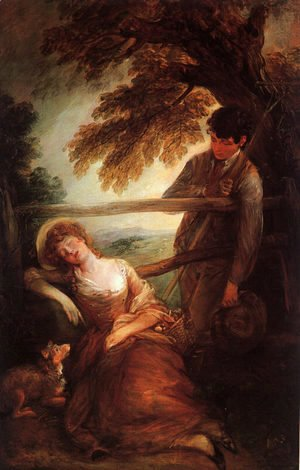 Thomas Gainsborough - Haymaker and Sleeping Girl  (Mushroom Girl)  1785