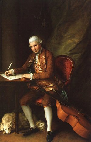 Thomas Gainsborough - Karl Friedrich Abel 1777