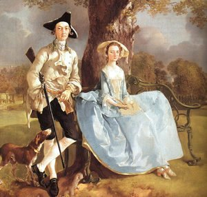 Thomas Gainsborough - Mr and Mrs Andrews (detail) 1750