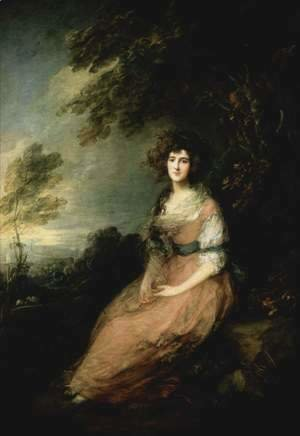 Thomas Gainsborough - Mrs. Richard Brinsley Sheridan  1785-87