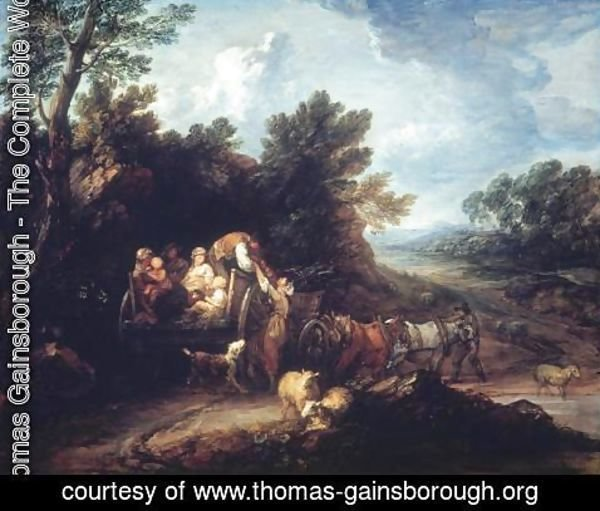 Thomas Gainsborough - The Harvest Wagon 1767