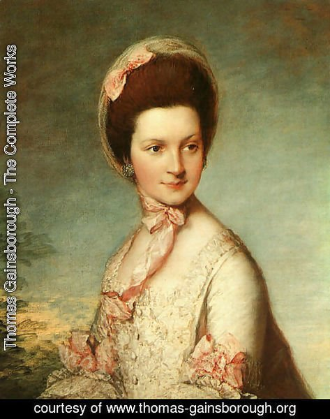 Thomas Gainsborough - Portrait of Henrietta Vernon (Lady Grosvenor, wife of Richard, first Earl Grosvenor), 1766-67