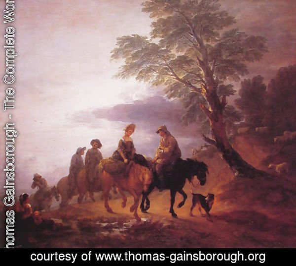 Thomas Gainsborough - Peasants Going to Market in the Early Morning