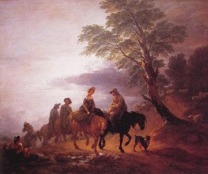 Peasants Going to Market in the Early Morning